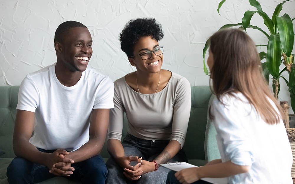 image of a couple receiving counseling