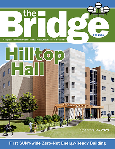 2019 Fall Bridge cover - Hilltop Residence Hall feature