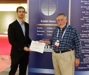 Avery Green wins award at the 62nd annual AVS Symposium
