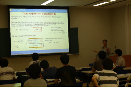 Prof. Shahedipour-Sandvik reached a class in Japan