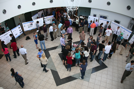 An internship poster session