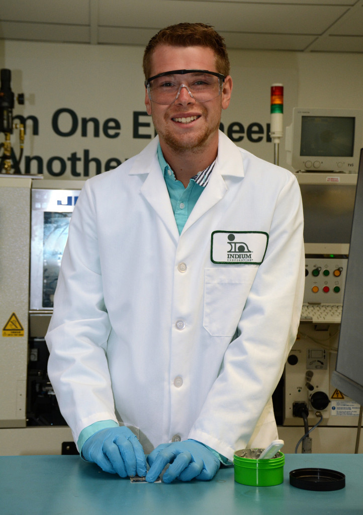 Mechanical Engineering student John Russo at Indium Corporation
