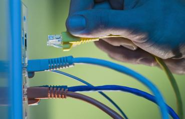 Illustrative photo of wires for Network and Computer Security