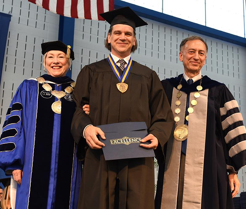 Brian Taylor honored with one of the Chancellor's Award for Excellence