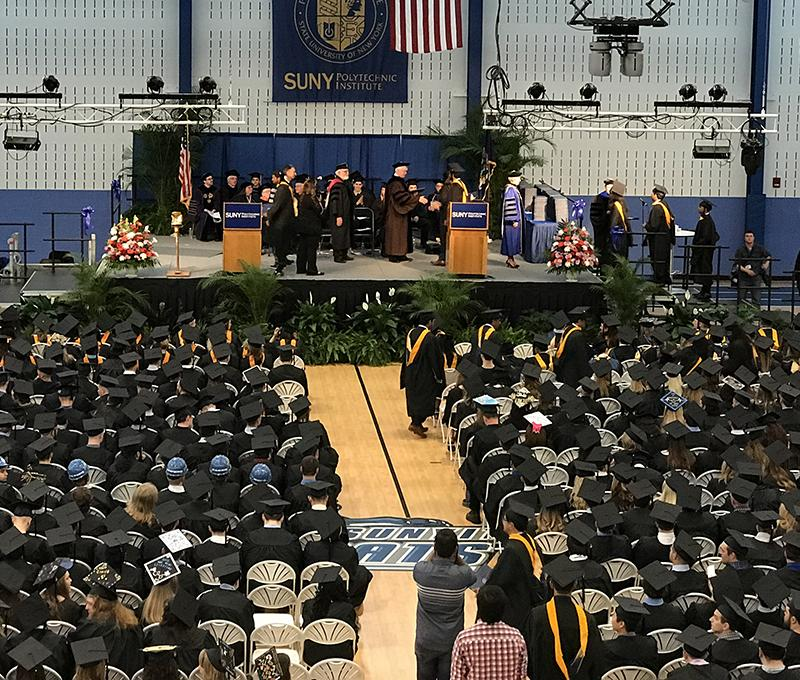 2017 Spring Commencement on the Utica Campus