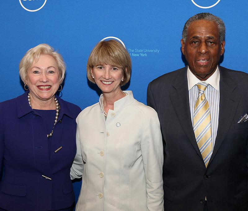 Dr. Nancy Zimpher, Dr. Kristina Johnson and, H. Carl McCall